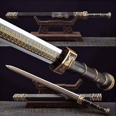 Ruyi Jian Damascus Folded Steel 如意剑