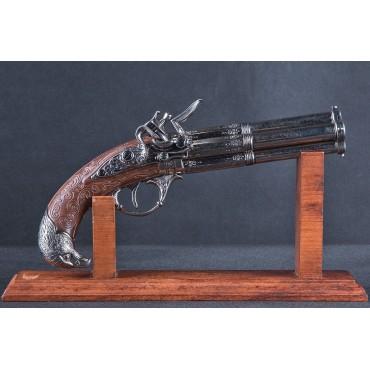 4 Barrel Flintlock Pistol, France 18th