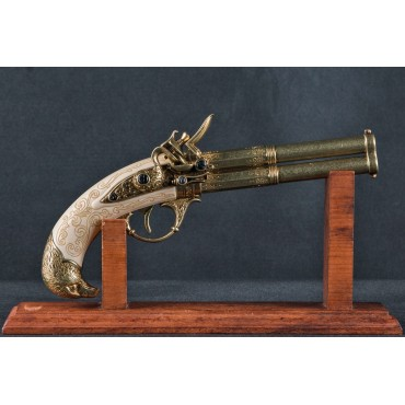 2 Barrel Flintlock, France 18th.C