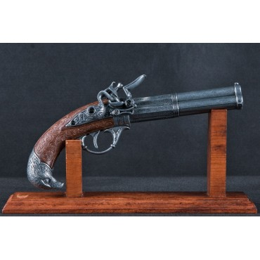 3 Barrel Flintlock Pistol, France 18th C