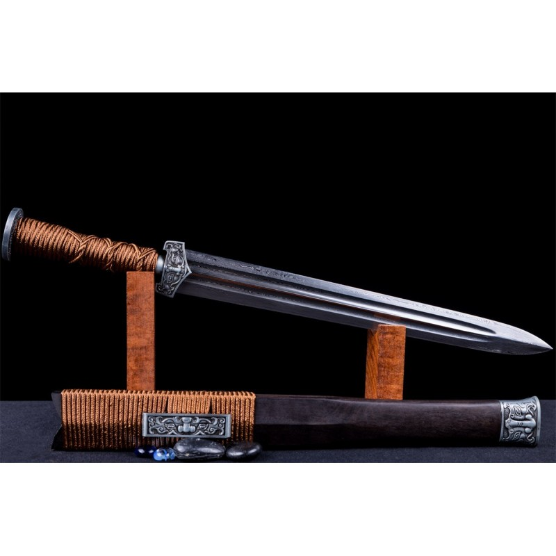 Chinese Zodiac Jian Sword Folded Steel Double Hi Blade
