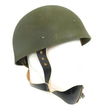 British WWII MKI Paratrooper Helmet with Leather Chinstrap System