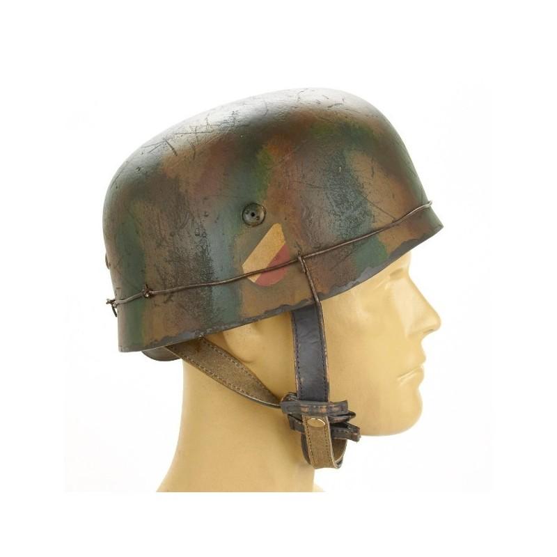 German WWII Paratrooper M38 Fallschirmjäger Helmet- 1944 6FJ