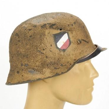 German WWII M42 Steel Helmet - Textured Afrikakorp 21st Panzer Division