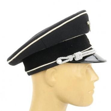 German WWII SS Allgemeine Officer Visor Cap