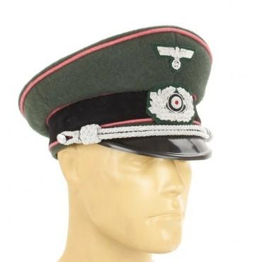 German WWII Army Wehrmacht Panzer Visor Cap