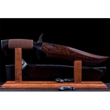 Gil Hibben Hellfyre Highlander Bowie Knife With Sheath