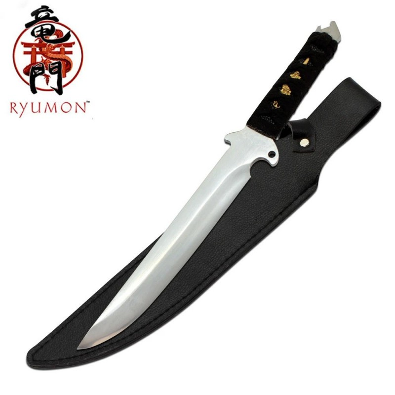 Full Tang Samurai Sword with Leather Sheath