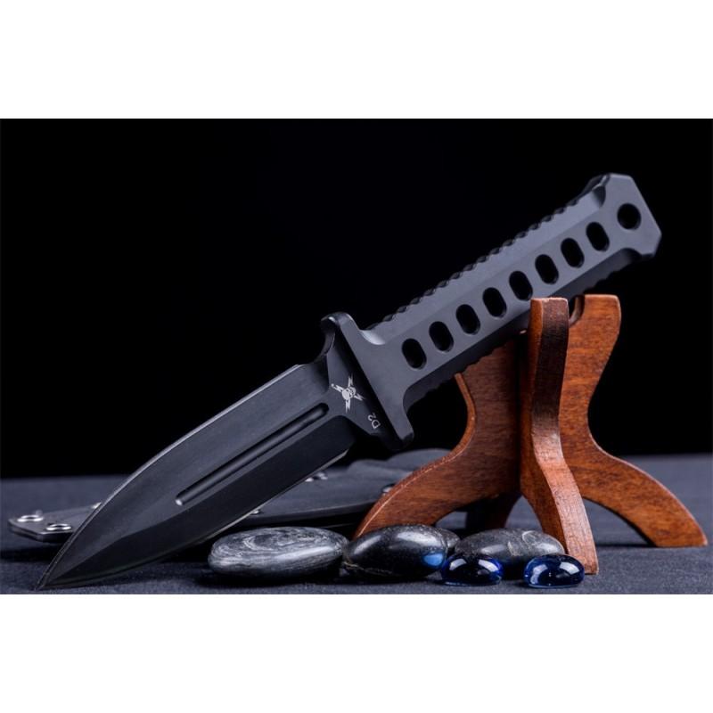 M48 Black Combat Dagger With Sheath D2 steel