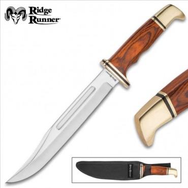 Ridge Runner Gold Miner Fixed Blade Knife With Sheath