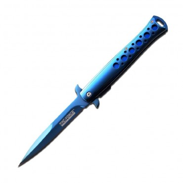 TAC-FORCE blue mirror titanium coated blade