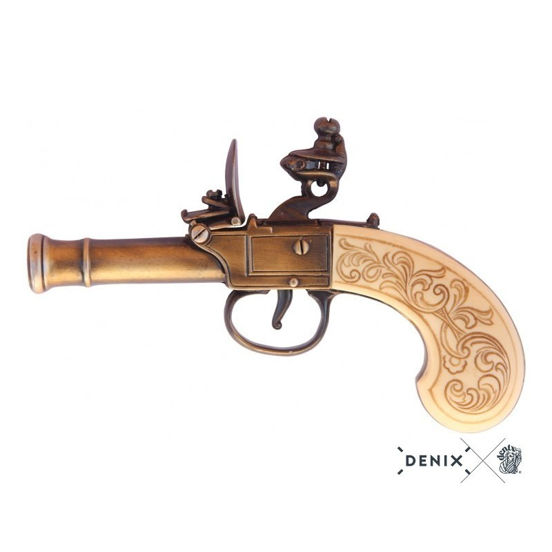 Flintlock pistol by Bunney, England 18th. C.