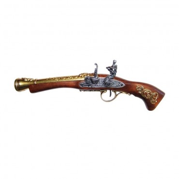 18th Century Flintlock Blunderbuss Gold Barrel