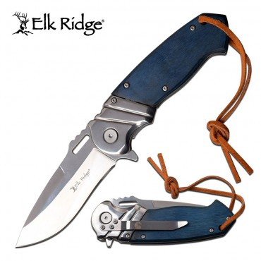ELK RIDGE ER-A003BL Folding Knife