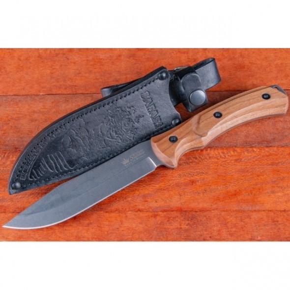 Safari-Aus8-SW Fixed Blade, Walnut Handle