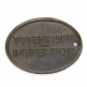 German WWII SS Copper Identification Tag