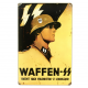 German WW2 Vintage Metal Sign: Waffen SS