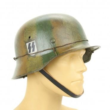 German WWII Reproduction M35 1st SS Panzer Korp Helmet