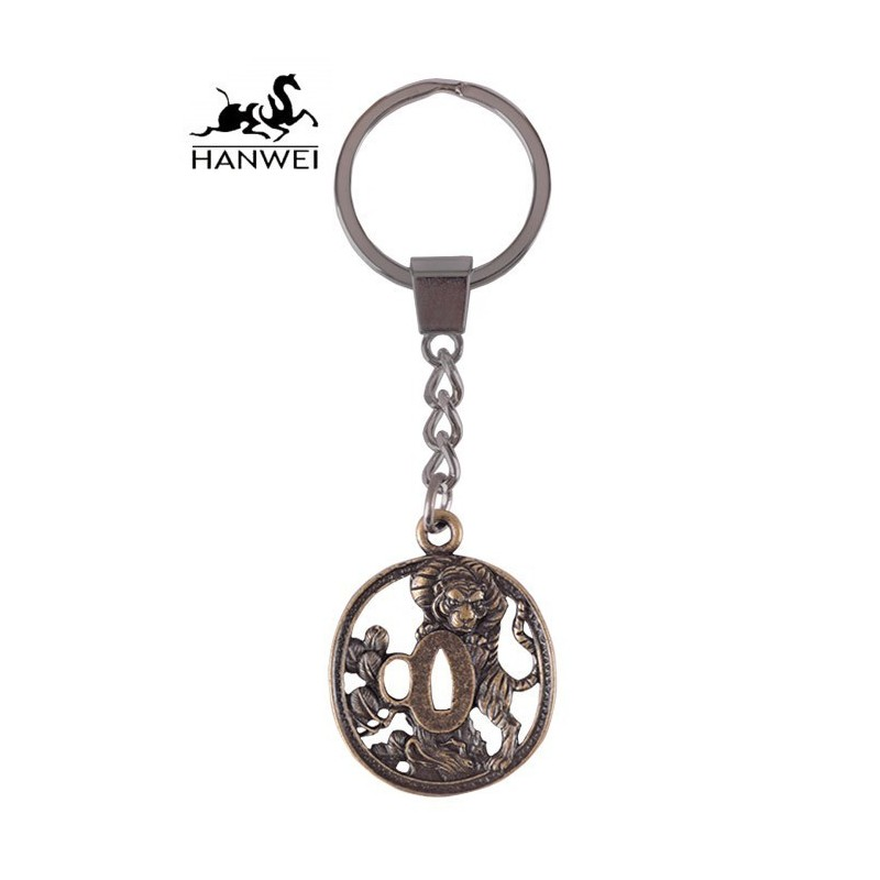 Tiger Tsuba Key Ring BY HANWEI