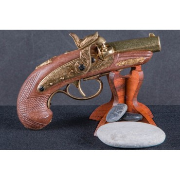 Denix Percussion Philadelphia Deringer Pistol Gold, USA 1862