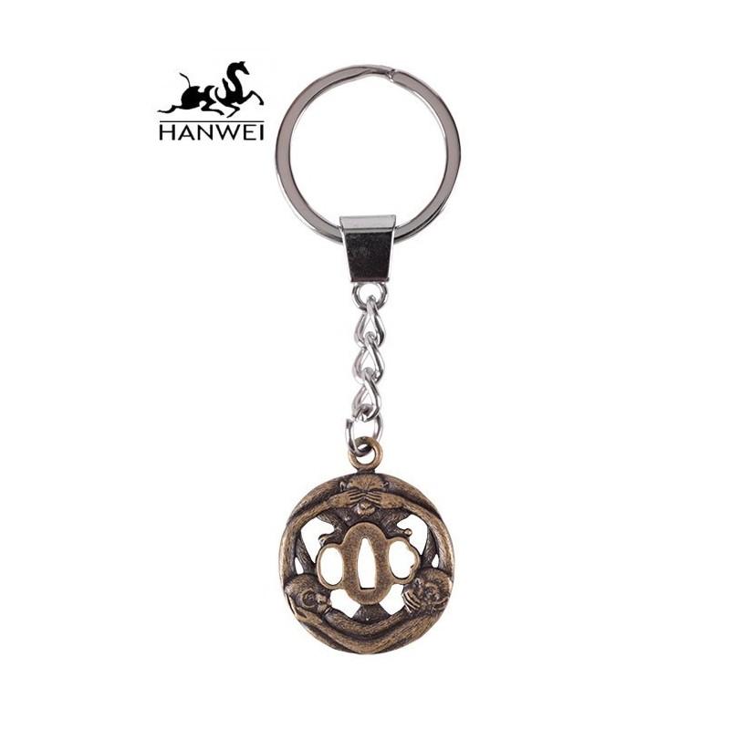 Hanwei Three Monkey Tsuba Key Ring