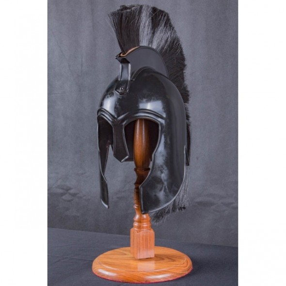 Trojan Corinthian Black Helm