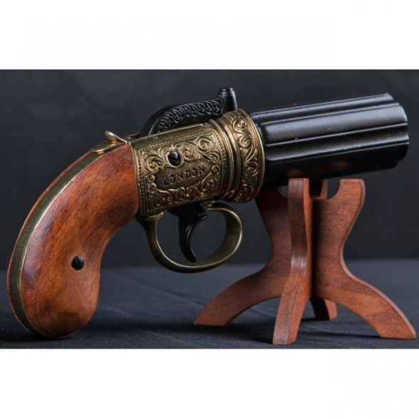 6 Cannons Pepper-Box Revolver England 1840