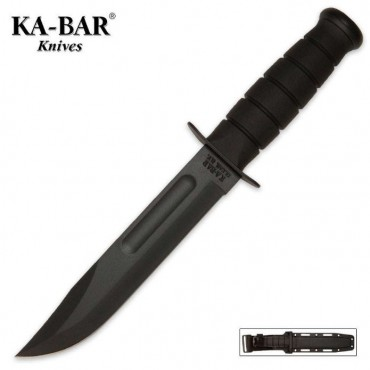 KA-BAR Classic Marine Knife Black with Sheath